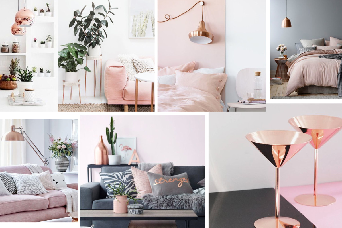 Rose gold homeware